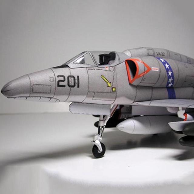 American A-4 Skyhawk Attack Aircraft Paper Model DIY Plane Paper Aircraft Model Attack R9P8 5