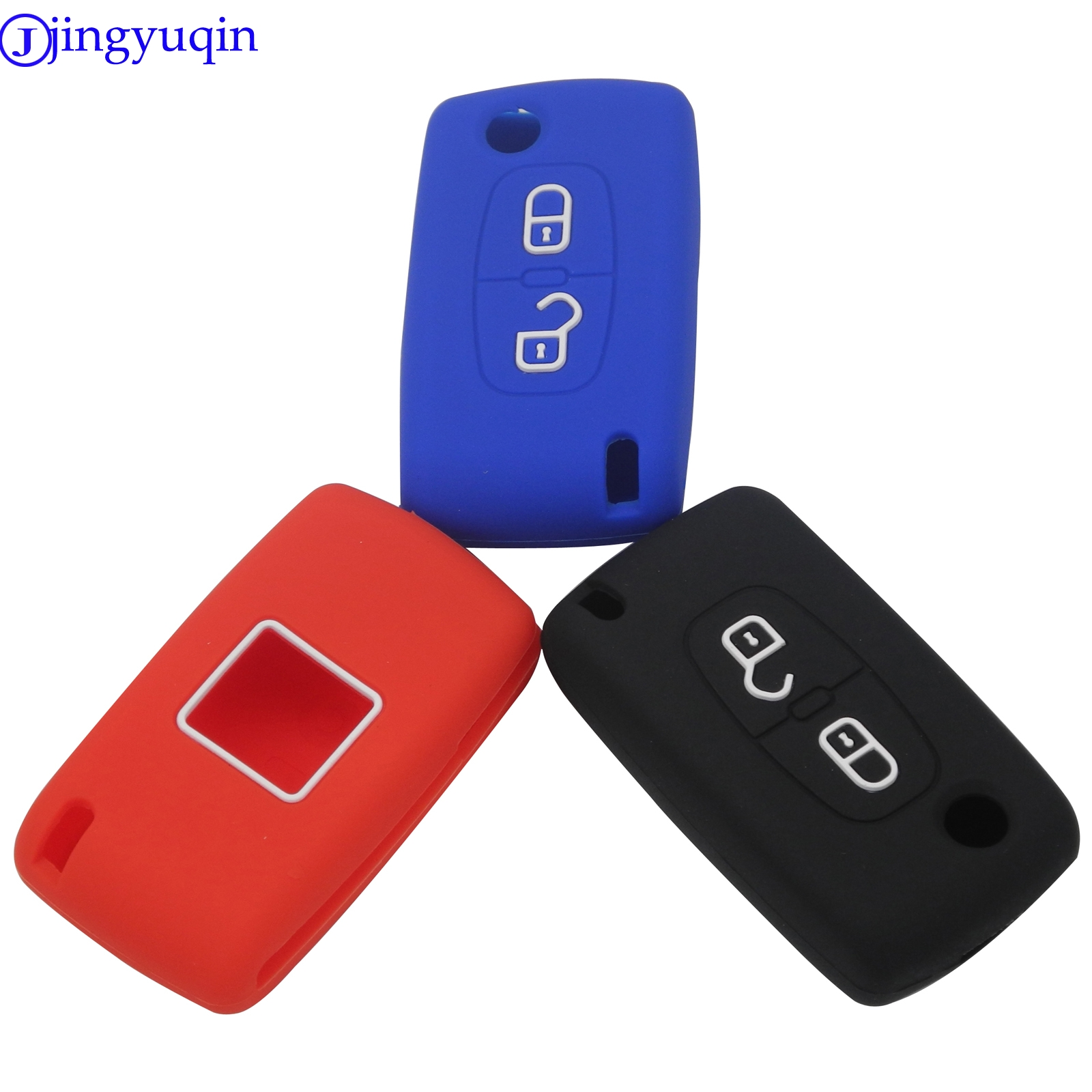 Flip Fob Folding Remote Silicon Key Case For Peugeot 306 407 807 Partner Citroen C2 C3 C4 C6 Berlingo Remote Fob Case 2 Button