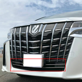 2pcs Exterior Accessories For Toyota Alphard AH30 2019 Sport Edition Stainless Steel Front Head Lower Air Intake Grille Trim
