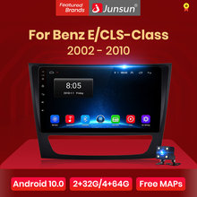 Junsun-Radio Multimedia V1 con GPS para coche, Radio con reproductor, Android 10,0, estéreo para coche, navegador, dvd, 2 din, para Mercedes Benz W211
