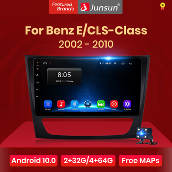 Junsun V1 Android 10.0 CarPlay Car Radio Multimedia Video Player Auto Stereo GPS For Mercedes Benz W211 2002-2010 2 din dvd image