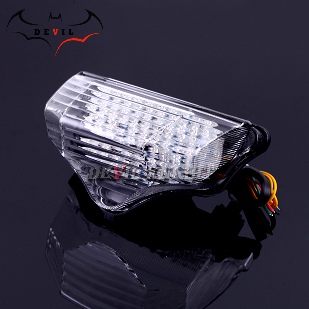 cheapest for Yamaha FZ600 FZ6 FAZER 2004 2005 2006 2007 2008 2009 Motorcycle LED taillights brake assembly with steering rear tail light