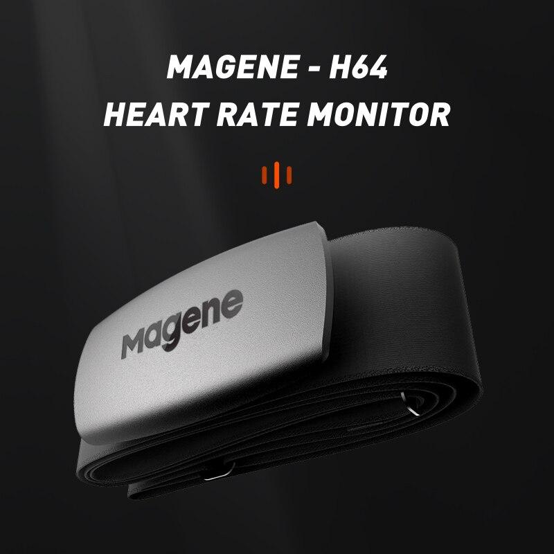 Magene Mover H64-Sensor de ritmo cardíaco, modo Dual, ANT + y Bluetooth con correa para el pecho, Ordenador de ciclismo, Wahoo Garmin, Monitor deportivo