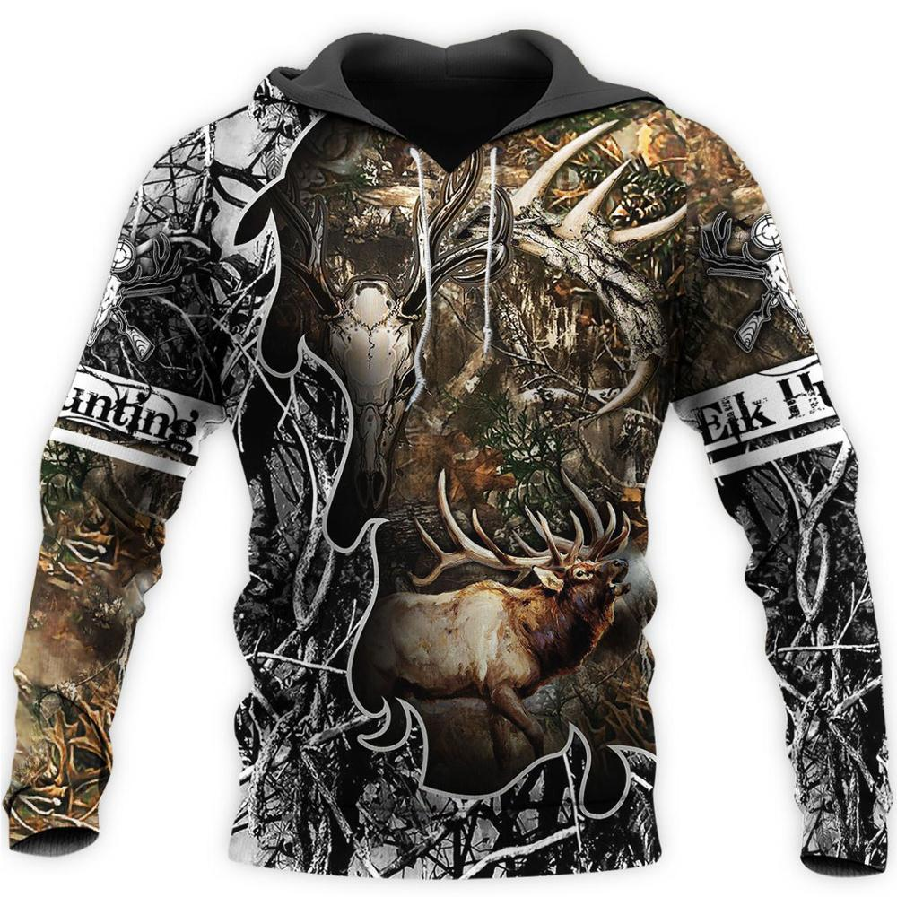 Camo AMO HUNTING ANIMALS deer ART 3D Hoodies Hoodie Men Women New Fashion Hooded Sweatshirt Long Sleeve casual Pullover-5
