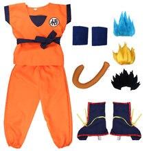 Halloween Navidad hijo de Goku tortuga azul peluca zapatos disfraz para niños Cosplay adulto para niños traje de los niños de la fiesta de año nuevo vestido