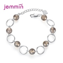Hot Fashion 925 Sterling Silver Adjustable Bangle Bracelets Charm Beads Bracelet For Women Summer Daily Jewelry Friendship Gift ztung hb20 charm bracelets classic 925 sterling silver have many color for women s girls wonderful gift jewelry bangle