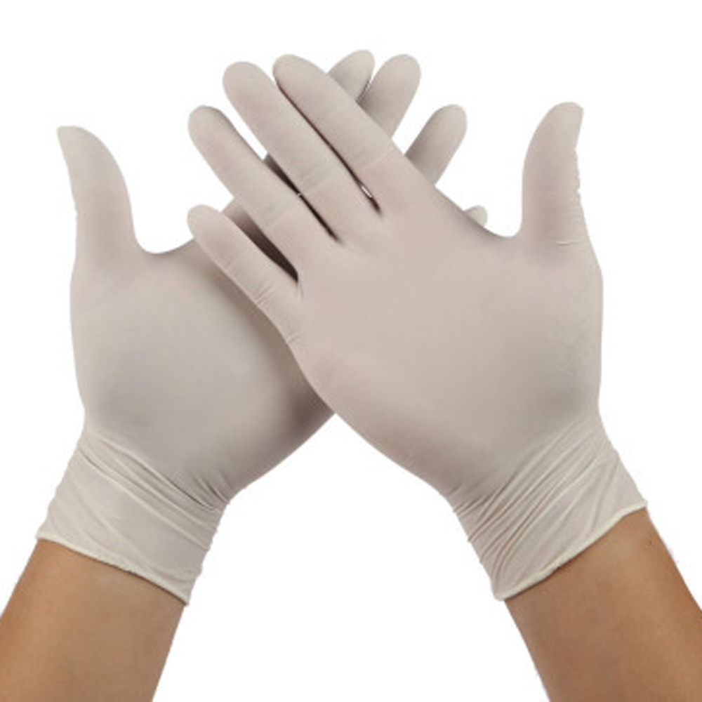 100 Pcs Disposable White Powder-free Latex Protective Gloves