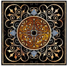 Hand painted classical pattern marble floor Floor Sticker Decor Self-adhesive Mural Wallpaper