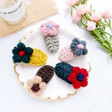 LANIWOO Handmade Sweater Flower Hair Clip Cute For Children Hot in INS 2019 New Fashion Accessory(China)