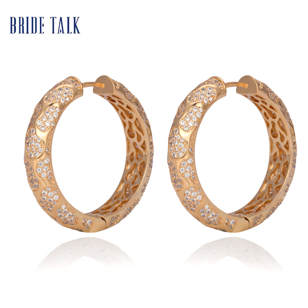 Bride Talk Round Shape Vintage Women Earrings Europe And America Style High Quality Luxury Jewelry Gift For Best Friend Family