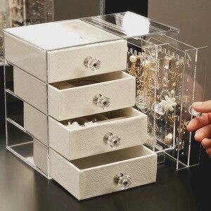 Креативная коробка для хранения ювелирных изделий, для дома, для рабочего стола, серьги, ювелирное ожерелье, стеллаж для хранения многослой...