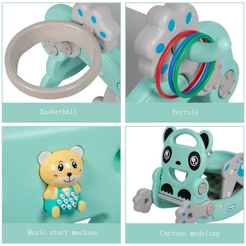 2 в 1 Детские блестящие горки для детей Качалка лошадь Детские игрушки многофункциональные горки езда игрушечная лошадь для детей подарок н... - 4