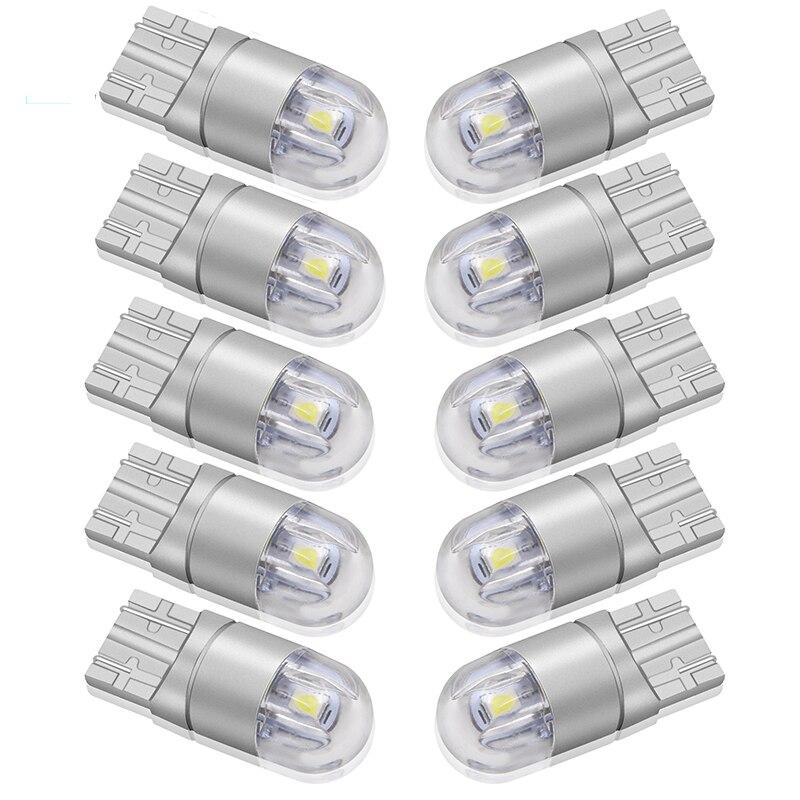 10pcs Signal Lamp 3030 T10 Led Car Bulb W5W 194 168 Led T10 Led Lamps For Cars White 5W5 Clearance Backup Reverse Light 12V