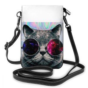Image 5 - 고양이 가죽 가방과 고양이 숄더 가방 여성 패턴 여성 가방 트렌드 구매자 고품질의 작은 지갑