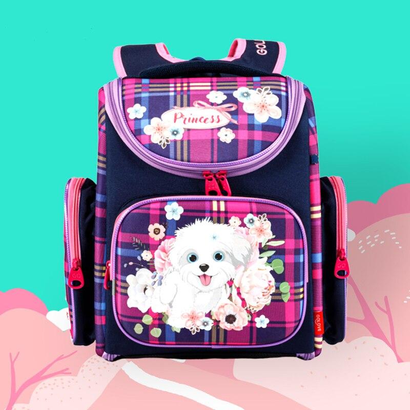 Orthopedic-Backpack Mochila Schoolbag Dinosaur Primary Infantil Girls Waterproof Cartoon