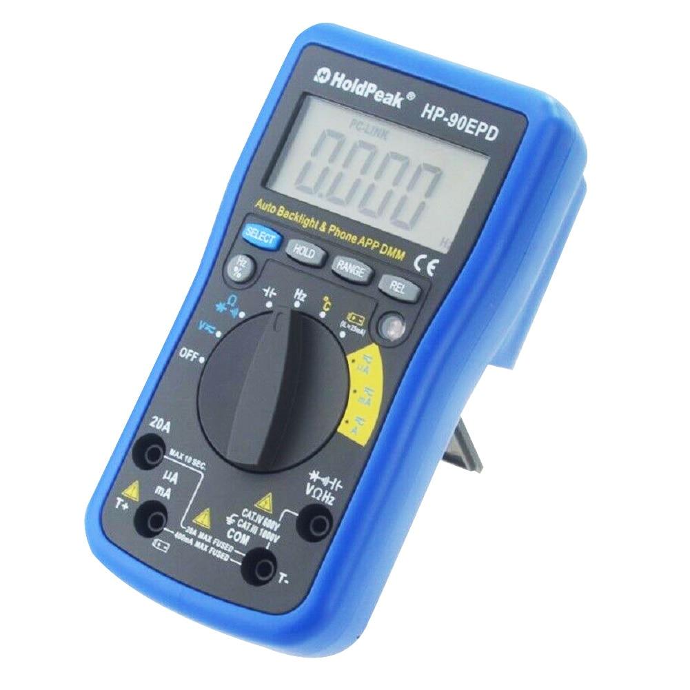 Digital Multimeter HP-90EPD Multi-tester Auto Range Ohmmeter Voltage AC DC Resistance Current Capacity Tester FKU66