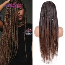 Braids Wig Black Women Twist Box Long for Heat-Resistant Cosplay 26''