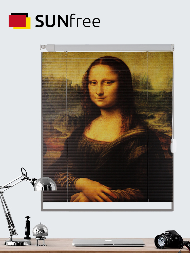 Mona Lisa Famous Painting Printing Venetian Blinds Waterproof Custom Aluminum Alloy Window Shades For Office/living Room/Kitchen