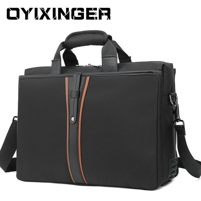 Fashion Famous Brand Men Bags For Macbook Oxford Waterproof Shockproof Laptop Briefcase Bag Shoulder Handbag Business Men's Bag