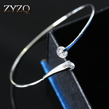 ZYZQ High Quality Wedding Accessories Bangle With Brilliant Dazzling Crystal Cubic Zircon Stone Fashion Bangle Wholesale Lots