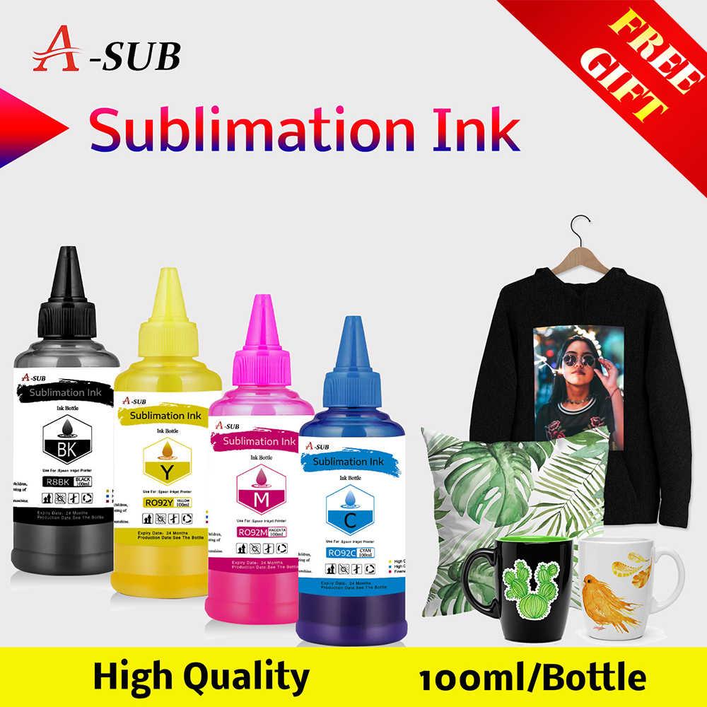 Atramentowy atrament sublimacyjny uniwersalny 4 kolor x 100ML do drukarek biurkowych Epson drukarka termotransferowa używana
