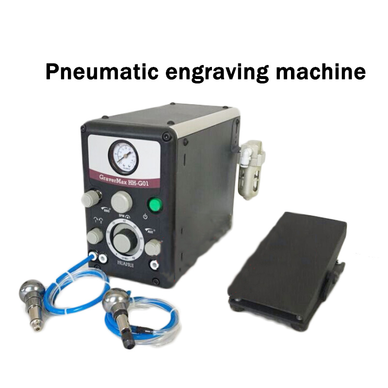 Two-headed Pneumatic Engraving Machine Jewelry Microcarver And Roll Beading Pneumatic Micro - Mounted Engraving Machine