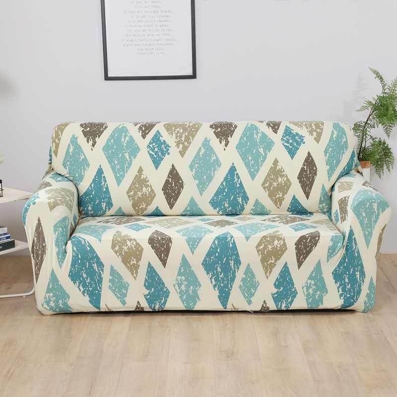 Elastic Sofa Cover for Living Room Spandex Armchair Cover  Magic Printed Flower Couch Cover  1/2/3/4 Seater 4 Size Available