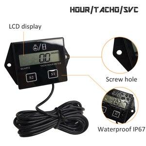 Image 3 - Digital del motor tacómetro medidor de horas tacómetro medidor para 2 o 4 tiempos motor de Gas inductivo de motores de la motocicleta barco