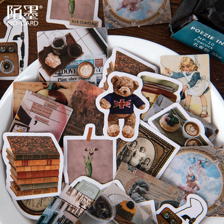 46pcs Recollection Time Corner Journal Decorative Stationery Stickers Scrapbooking Diy Diary Album Stick Label