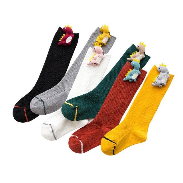 Baby Socks for Girls Cotton Knee High Socks Girl Casual Children's Socks for Boys Cute Cartoon Socks for Boy Autumn Winter Style 1