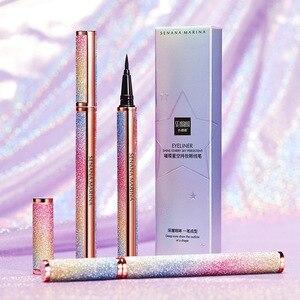 1pc crayon Eyeliner ciel étoilé imperméable 24 heures liquide longue durée stylo Liner yeux noir Non-floraison yeux lisses outils de maquillage