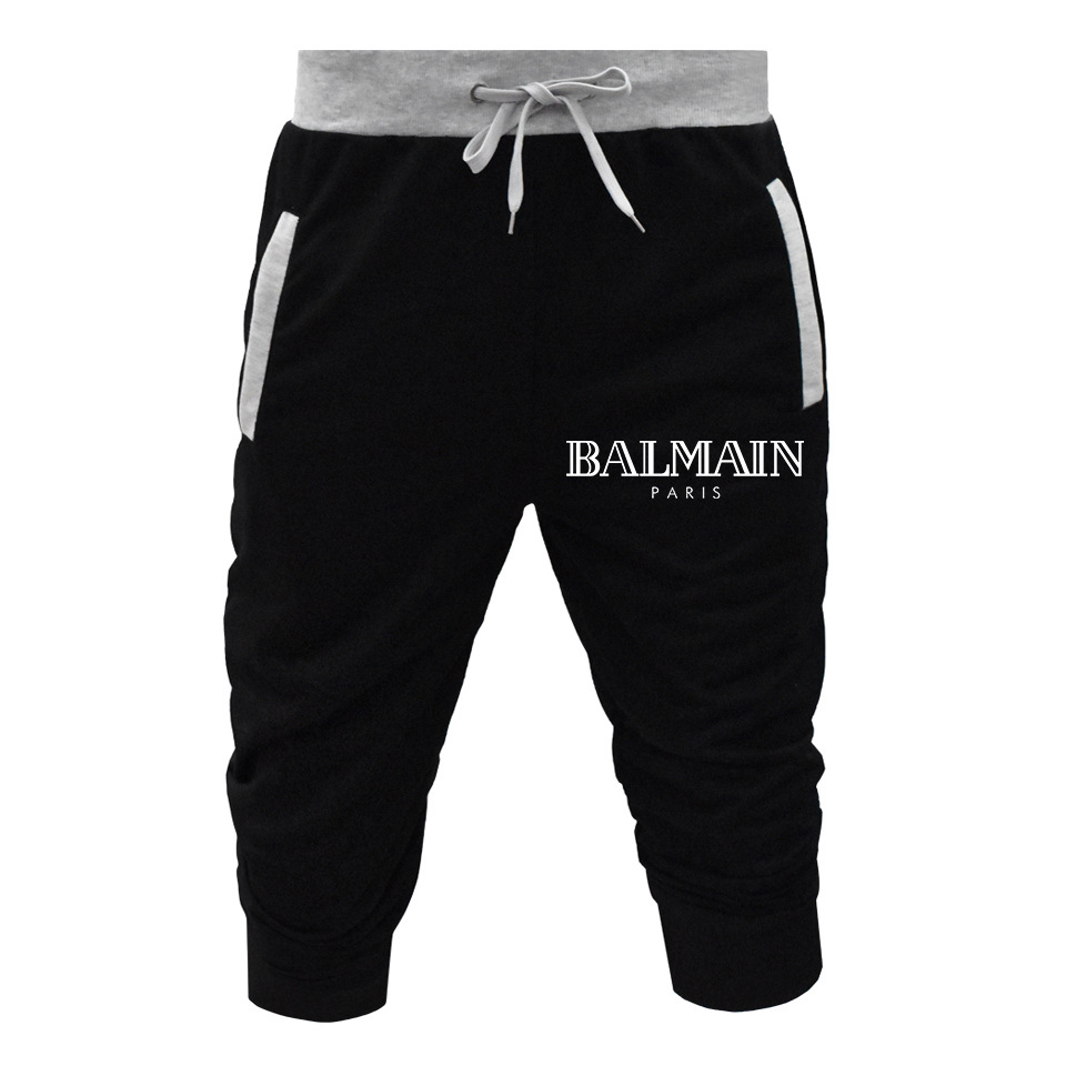 2019 Hot Selling Hot Selling Men Loose Fashion Capri Pants Elastic Drawstring Fitness Athletic Pants