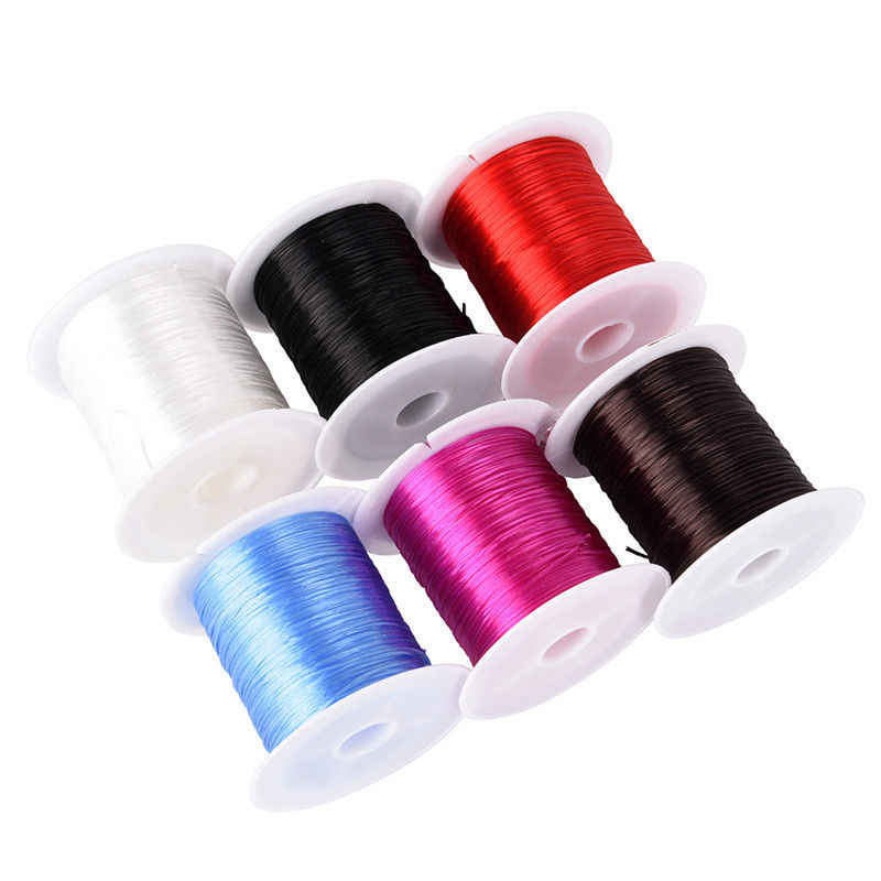 Cuerda para cuentas de cristal elástico de estiramiento fuerte de 1,0mm cuerda de hilo para bricolaje Elaboración de collar y brazaletes para encontrar joyas