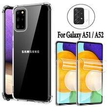 Capa Samsung A52, capa de proteção para Samsung A52 película de hidrogel Samsung Galaxy A52 A51 4G galaxya51 5G a52 Capa samsung a52 Capa de silicone para Samsung A52 case celular anti-impacto samsung galaxy a52