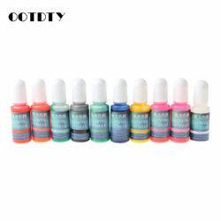 10 Colors Glowing in Dark Epoxy Resin Pigment Kit Luminous Colorant Liquid Resin Dye Jewelry Making