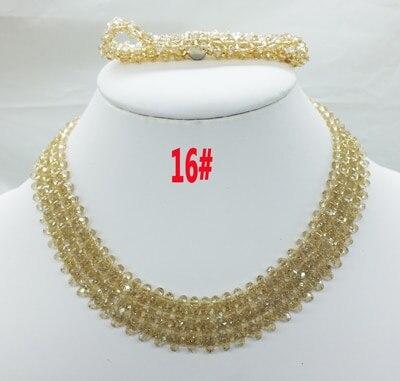 Новая цена-Африка, Нигерия, самый популярный ювелирный набор с кристаллами для невесты - Окраска металла: 16