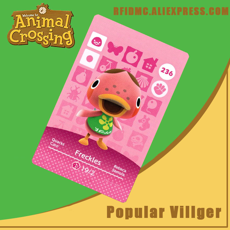 236 Freckles Animal Crossing Card Amiibo For New Horizons