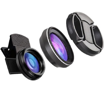 Orsda 4K HD סופר 15X מאקרו עדשה אנטי-עיוות 0.6X רחב זווית עדשה אופטית זכוכית Para Celular טלפון מצלמה עבור Smartphone
