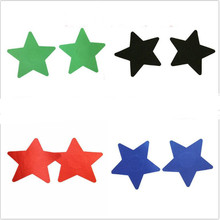 Free shipping Sexy experience 4 pairs (8Pcs) Stars Breast Pasties Nipple Covers 6 color-non-sensitizing adhesive with a soft