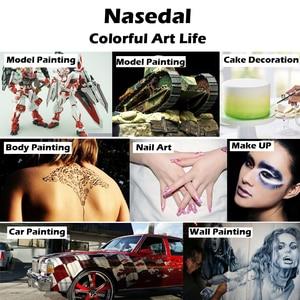 Image 5 - Nasedal エアブラシ塗料噴霧器ダブルアクションスプレーガンホース 3 ヒント 2 カップためアートペインティングタトゥーマニキュアスプレーモデル