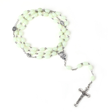 Rosary Necklace Jesus Christ Virgin Mary Alloy-Bead Long-Chain Fashion Jewelry Women