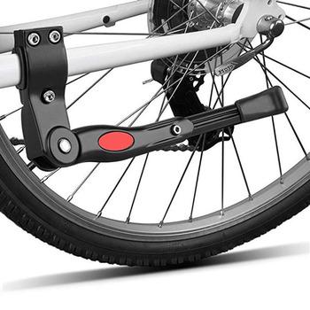 1 szt czarny biały regulowany MTB droga rowerowa stopka rowerowa Mountain Bike wsparcie stójka boczna stopa Brace tanie i dobre opinie CN (pochodzenie) KYQ014 aluminium alloy rubber foot (prevent to slip) Approx 34 5-40cm 13 6-15 7 24 -27 wheel diameter bicycles