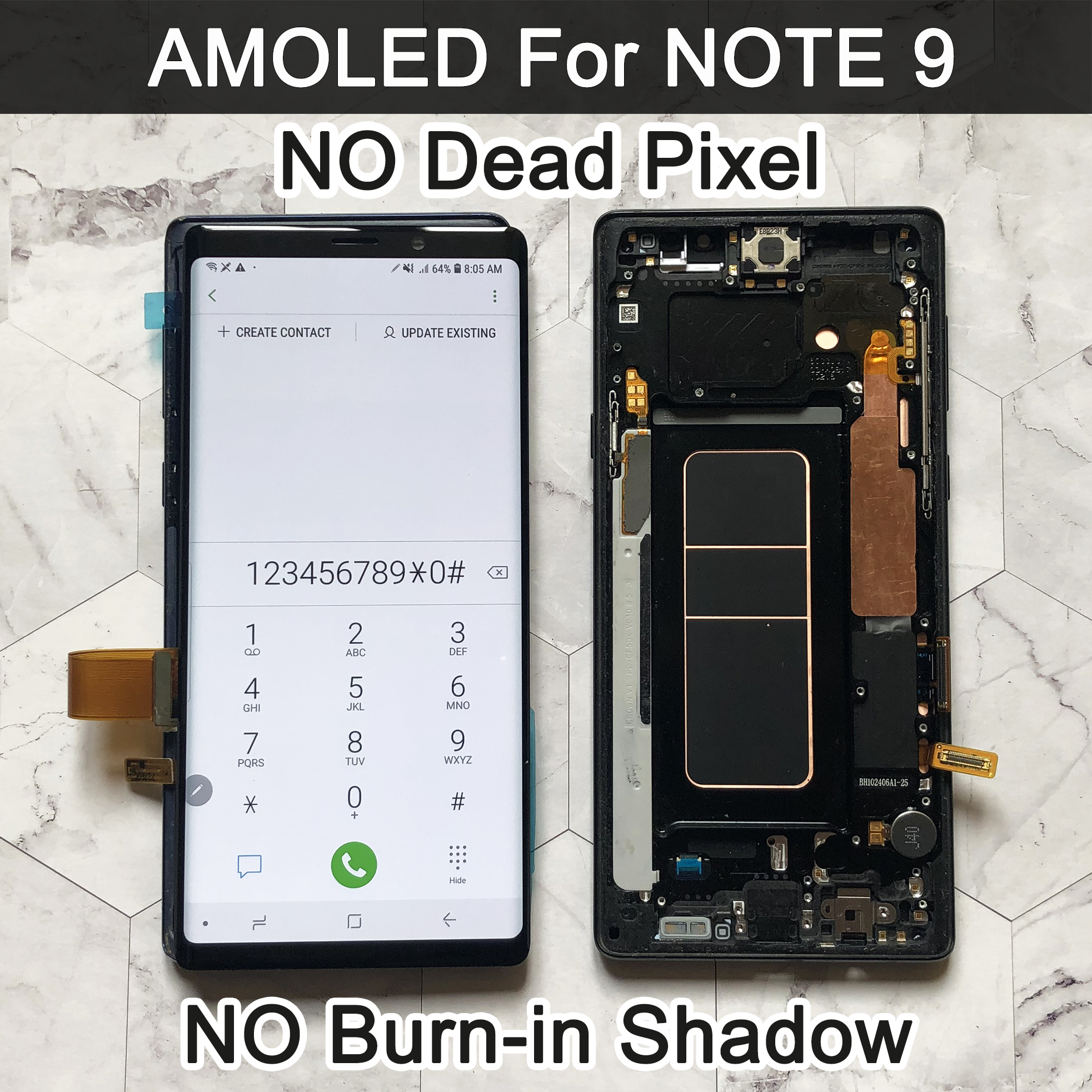ORIGINAL AMOLED 6.4'' LCD for SAMSUNG GALAXY Note 9 lcd For Note9 N960F N9600 N960N Display Touch Screen Digitizer Assembly lcd