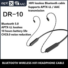 Aptx AAc Bluetooth 5.0 HIFI Headphone Cable Mmcx 0.78 IE80 IM50 IE40 PRO A2DC Lossless Upgrate Cable for Sennheiser Shure ATH bgvp m1 apt x bluetooth v4 2 cable for mmcx earphones hifi 8 core occ silver plated cable with microphone for shure for ue