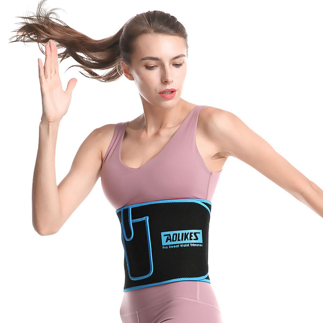 AOLIKES Losing Weight Belt Sweat Band Sports Waist Trimmer Slim Belt Lumbar Brace Support Gym Accessorie Muscle Compression 2