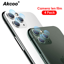 4 pieces Akcoo Camera Len film for iPhone 11 Pro Max Glass 6s 7 8 Plus XR XS camera lens protector