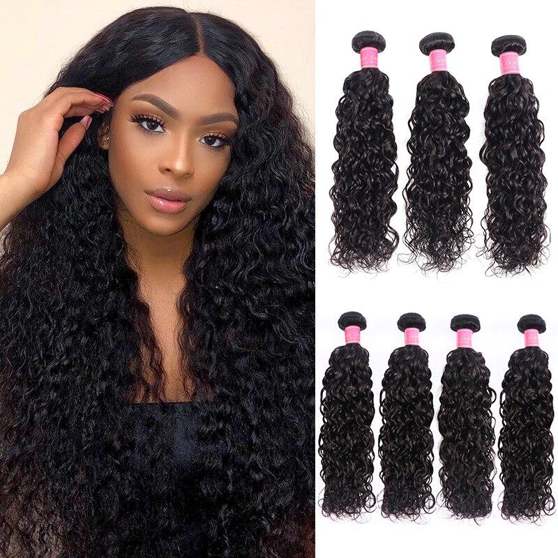 Ali Julia Haar Lose Wasser Welle 8 zu 26 Zoll M Brasilianische Remy Menschliches Haar Weave Bundles Natürliche Farbe