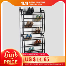 Shoe Rack 12 Layers Fit 12 Pairs Hanging Over the Door Organizer for Closet Portable Multifunctional PP plastic Spray Iron Pipe