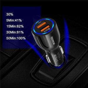 30W 3A Fast USB Car Charger Qu