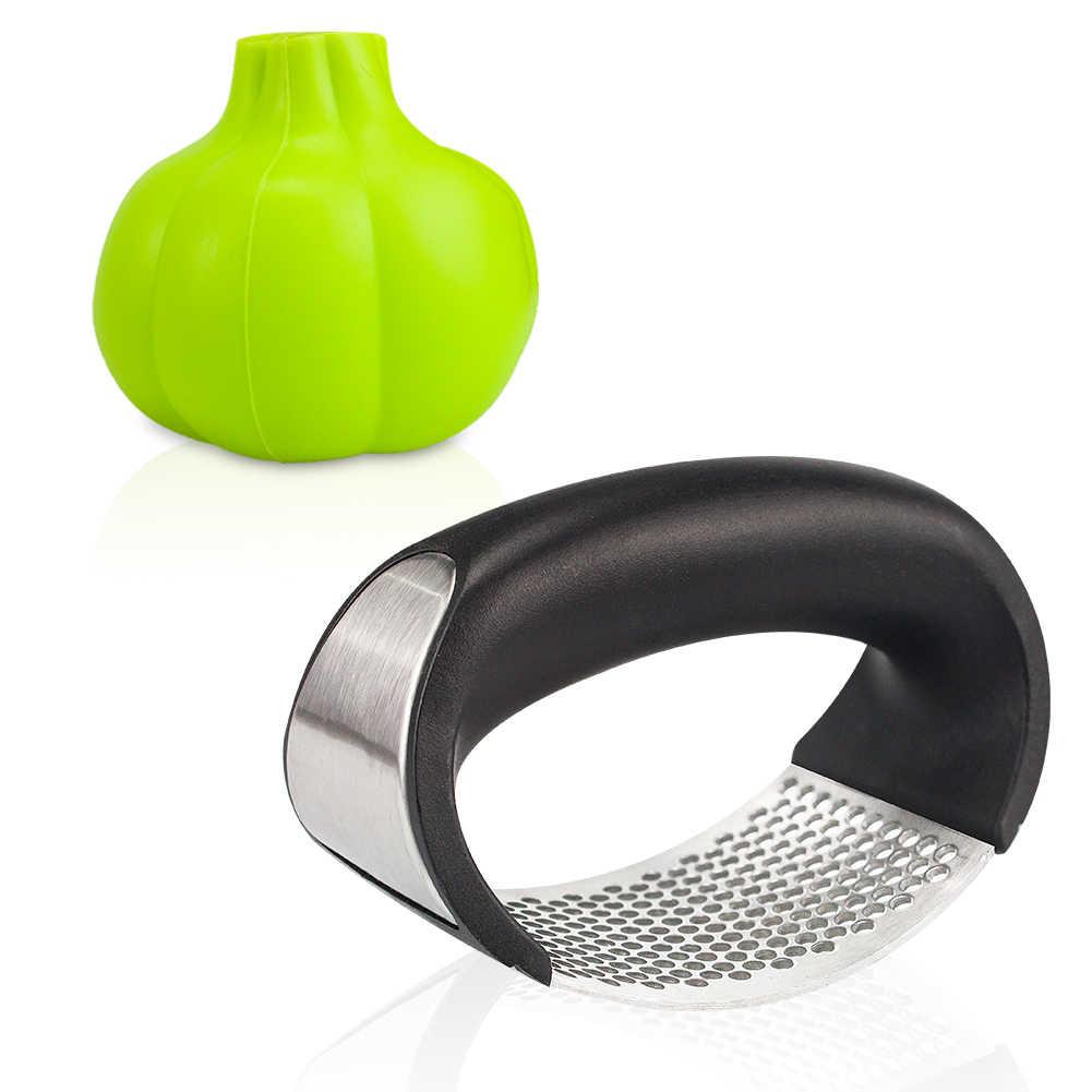 Meijuner Neue edelstahl knoblauch presse küche zubehör curved multifunktions manuelle knoblauch küche schleifen knoblauch